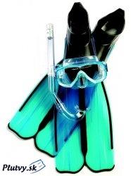 Set, maska, šnorchel a plutvy na dovolenkove potápanie, lacno na Plutvy.sk