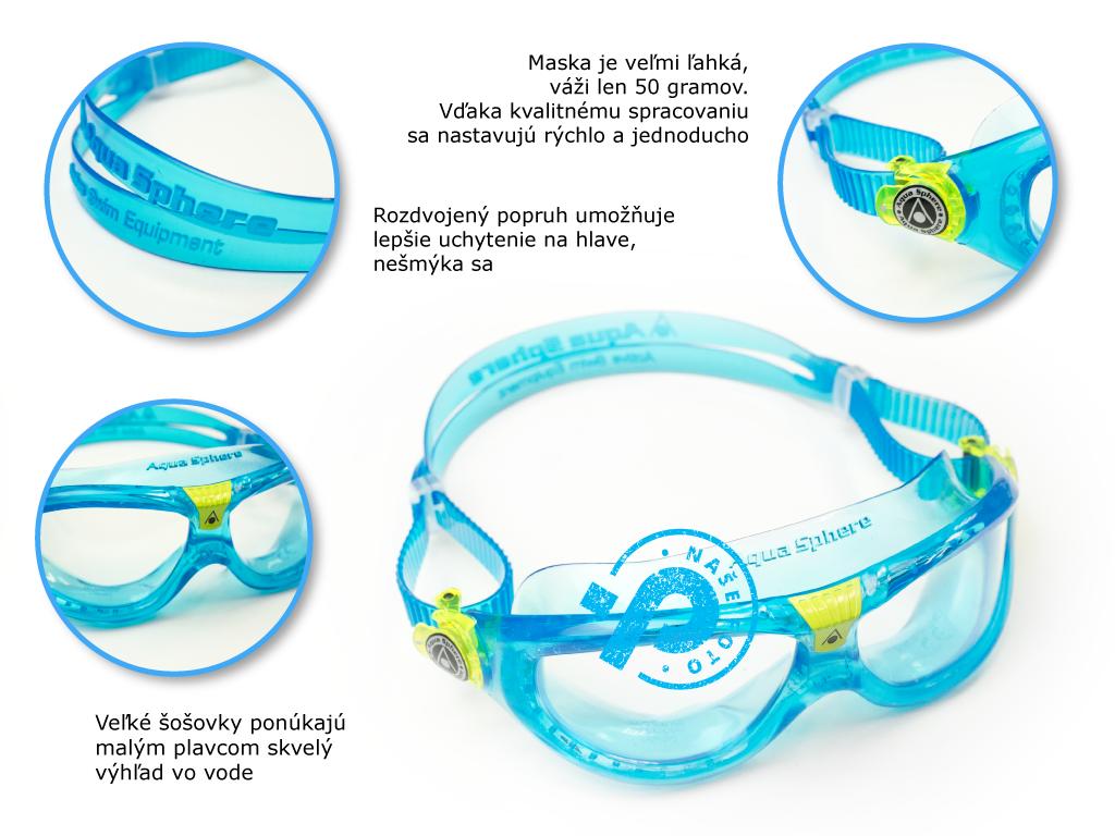 veľká detská maska, okuliare na plávanie, rady ako vybrať, tipy, recenzia, skúsenosť | Plutvy.sk