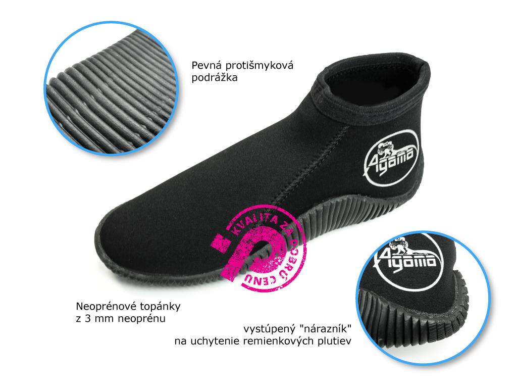 eoprénové boty s pevnou podrážkou, a ochranou päty