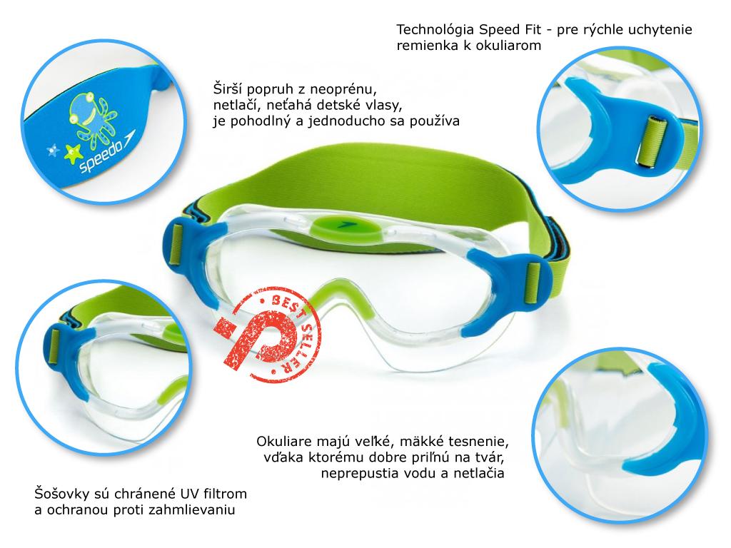 Speedo Sea Squad vyhody, skusenosti, tesnenie, šošovky, UV filter, detská maska do bazéna i mora