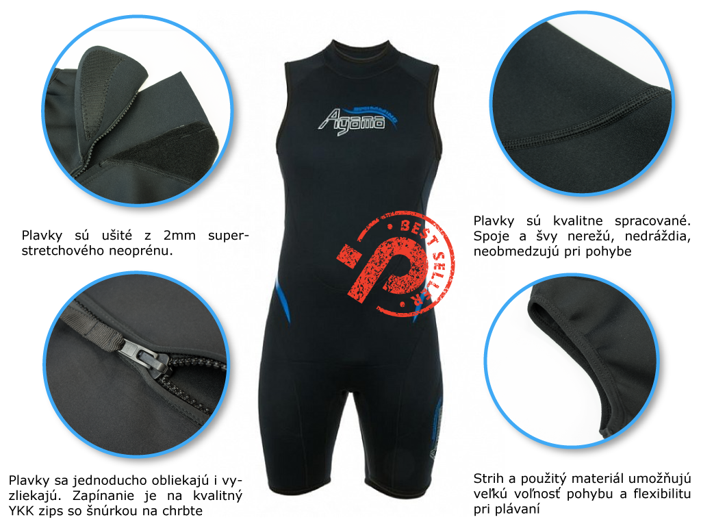 pásnke teplé plavky na otužovanie a plávanie v chladnej vode, v obchode Plutvy.sk