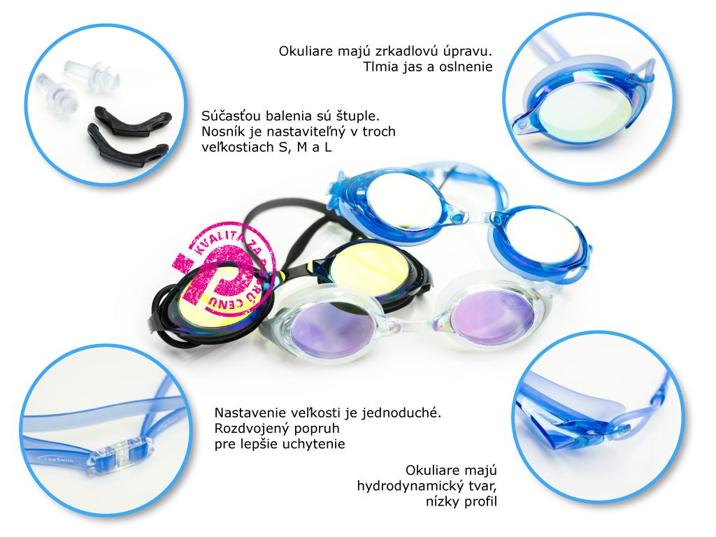 zrkadlové plavecké okuliare Aqua Mirror, skúsenosti, recenzia, hodnotenie, tip na Plutvy.sk