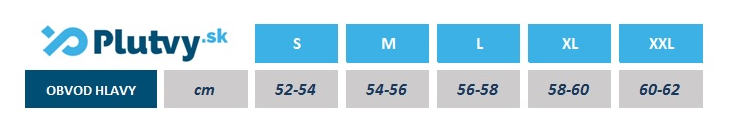 tabuľka veľkostí kukla na potápanie, Agama Dive 5mm, e-shop Plutvy.sk