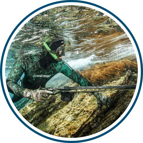 Kamuflážne vlastnosti uľahčujú lov rýb harpúnou