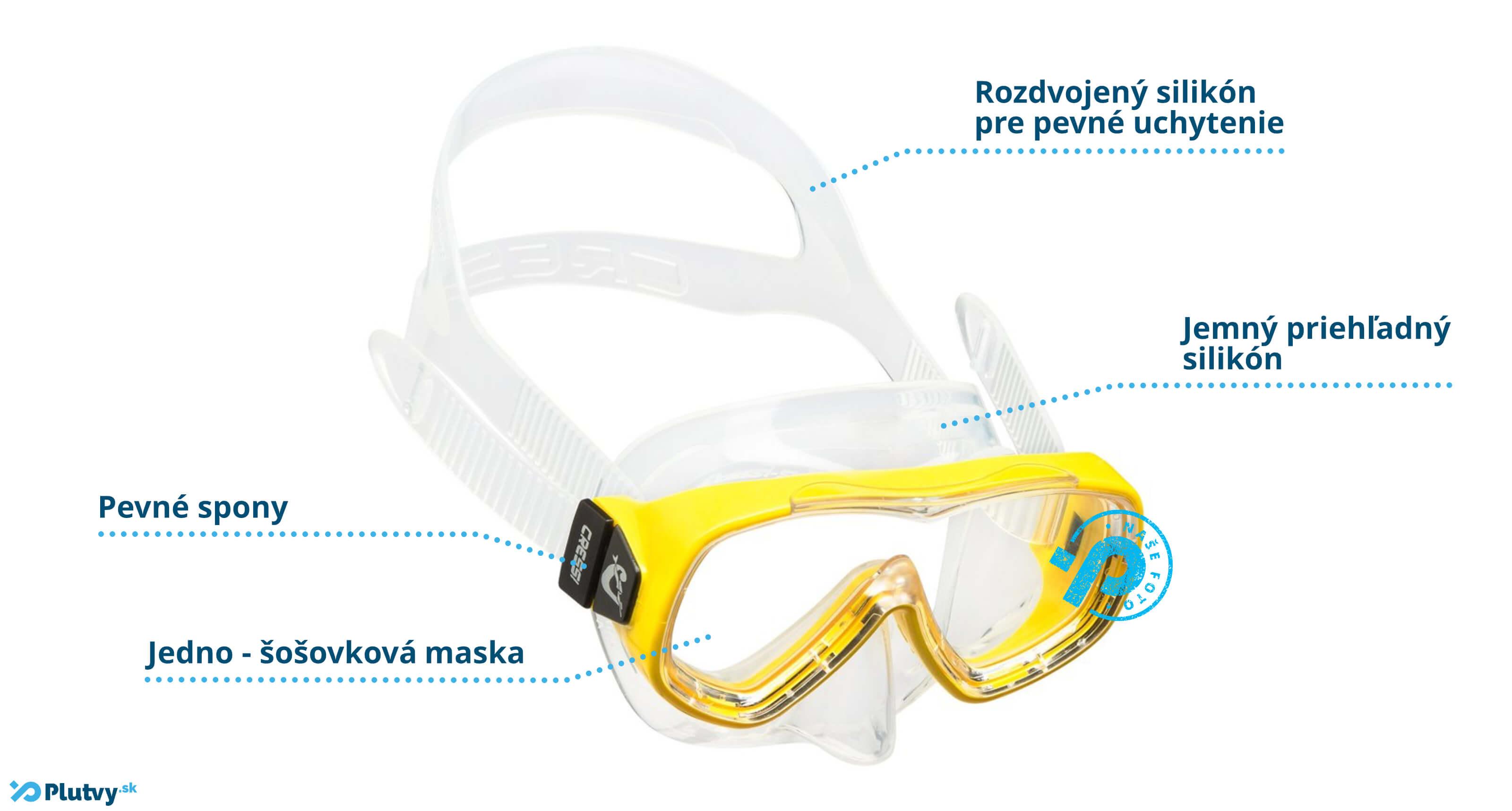Detské potápačské okuliare Piumetta Junior, lacné na Plutvy.sk