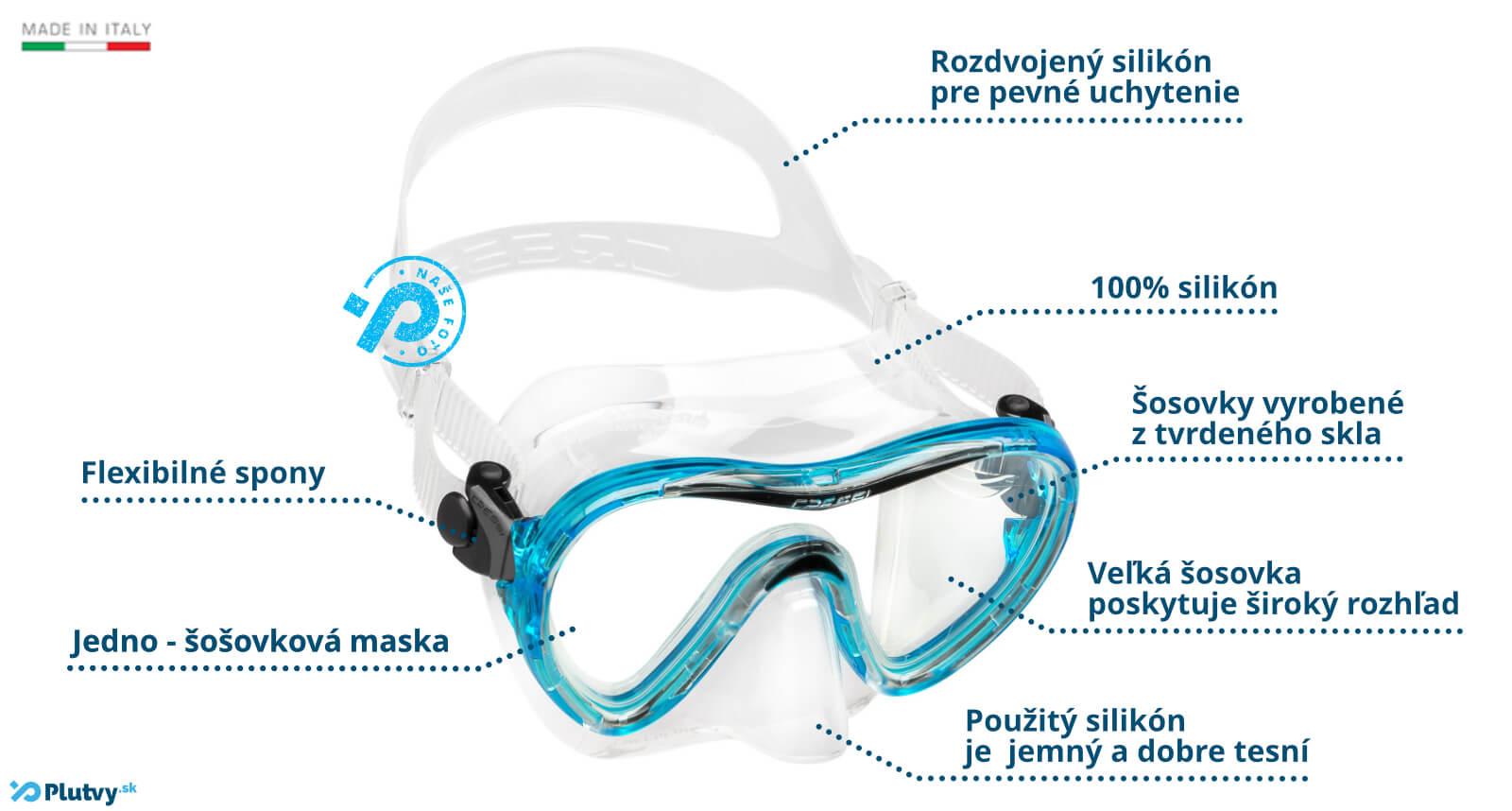 Cressi Sky junior maska na potápanie a šnorchlovnie pre deti od 9 rokov