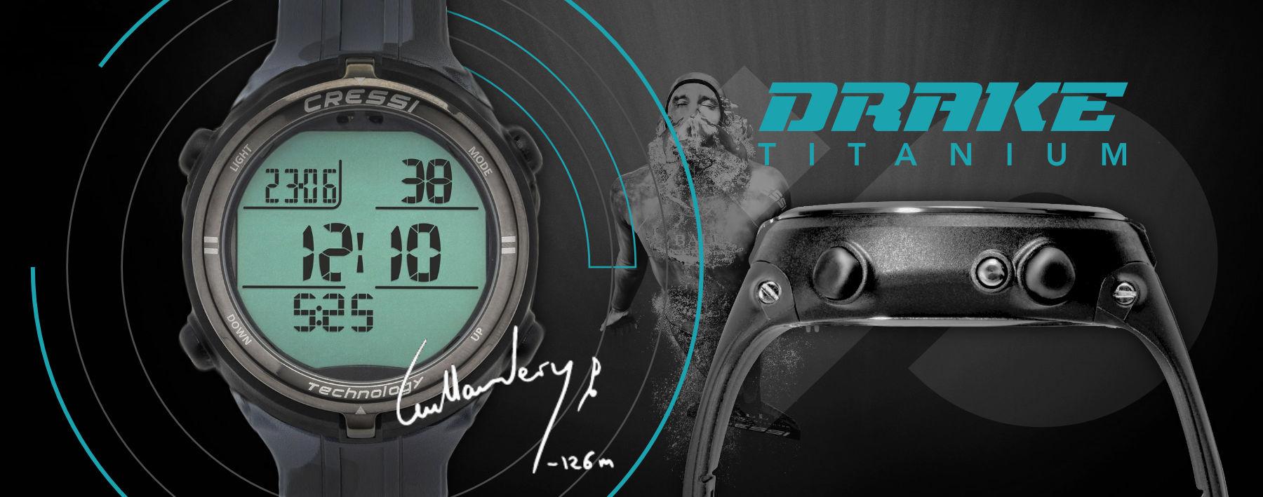 Cressi Drake Titanium, freedivingový počítač, v obchode Plutvy.sk