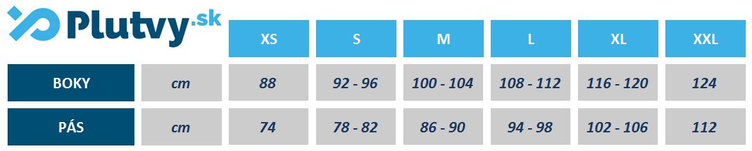 Neoprénové šortky Hiko Neo Core tabuľka veľkosti
