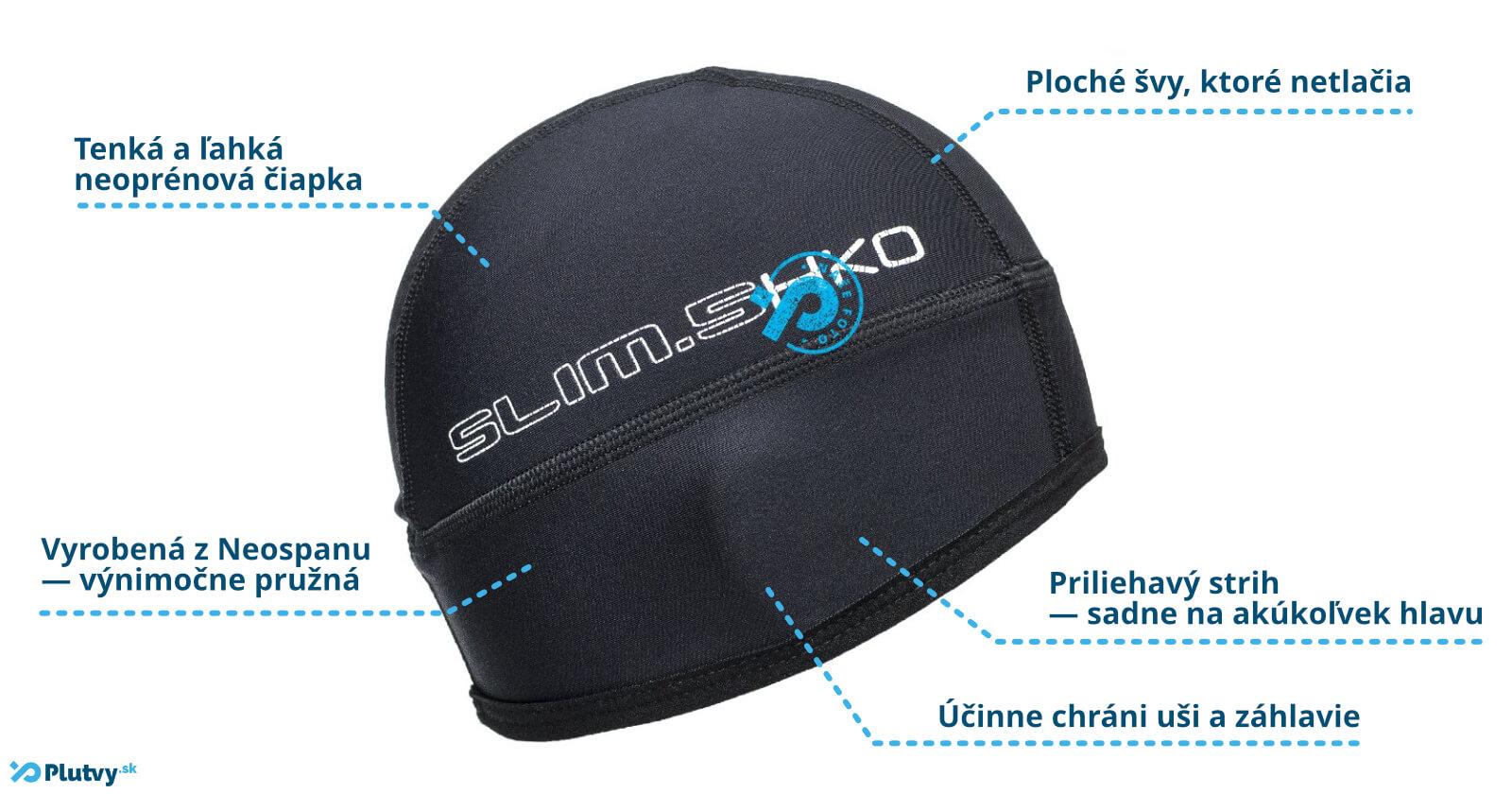 7ef7e655b972 Elastická čiapka vhondá na použitie pri vodných športoch