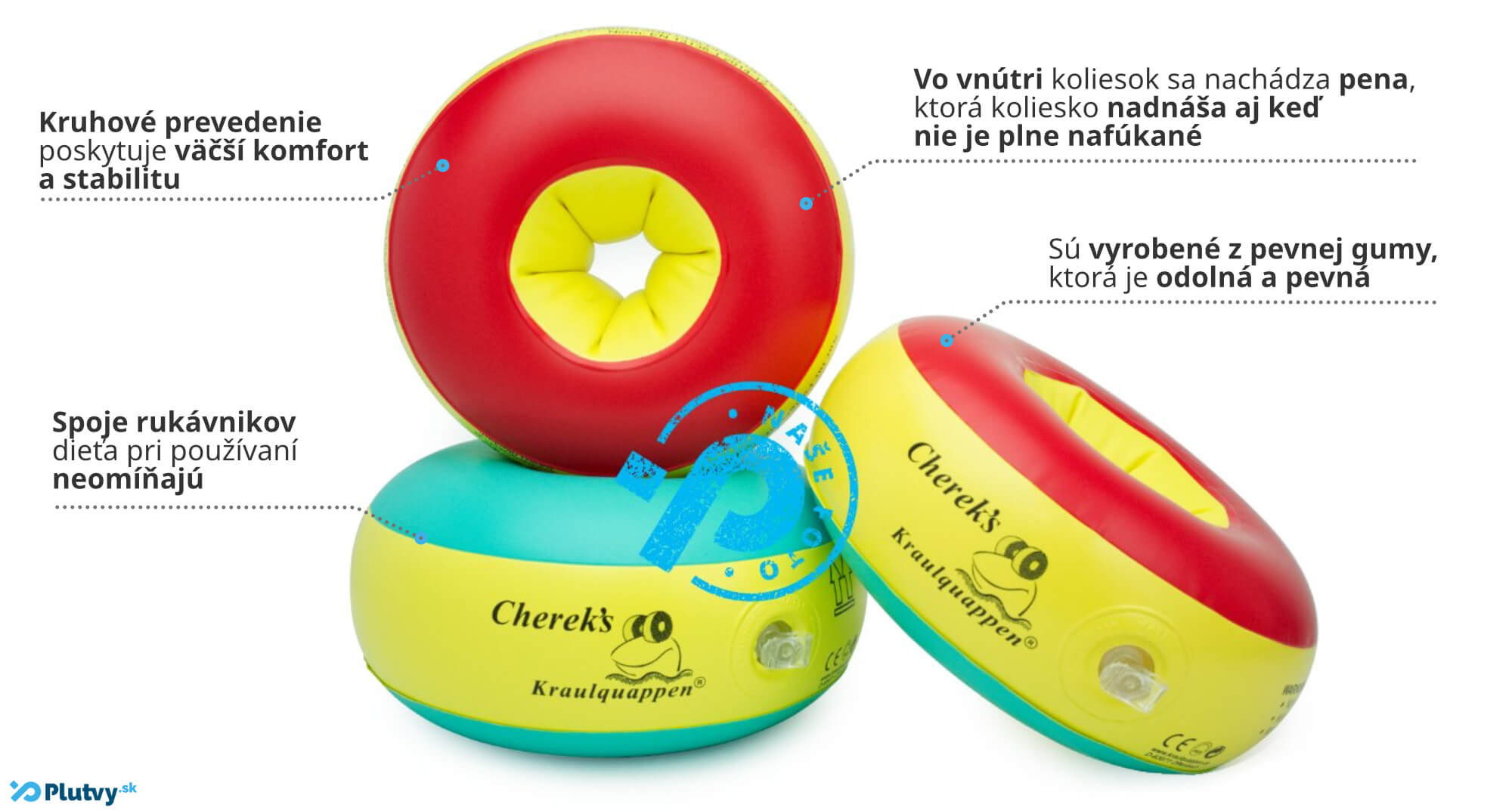 Nafukovacie kolieska na plávanie Cherek's pre deti v obchode Plutvy.sk v Bratislave