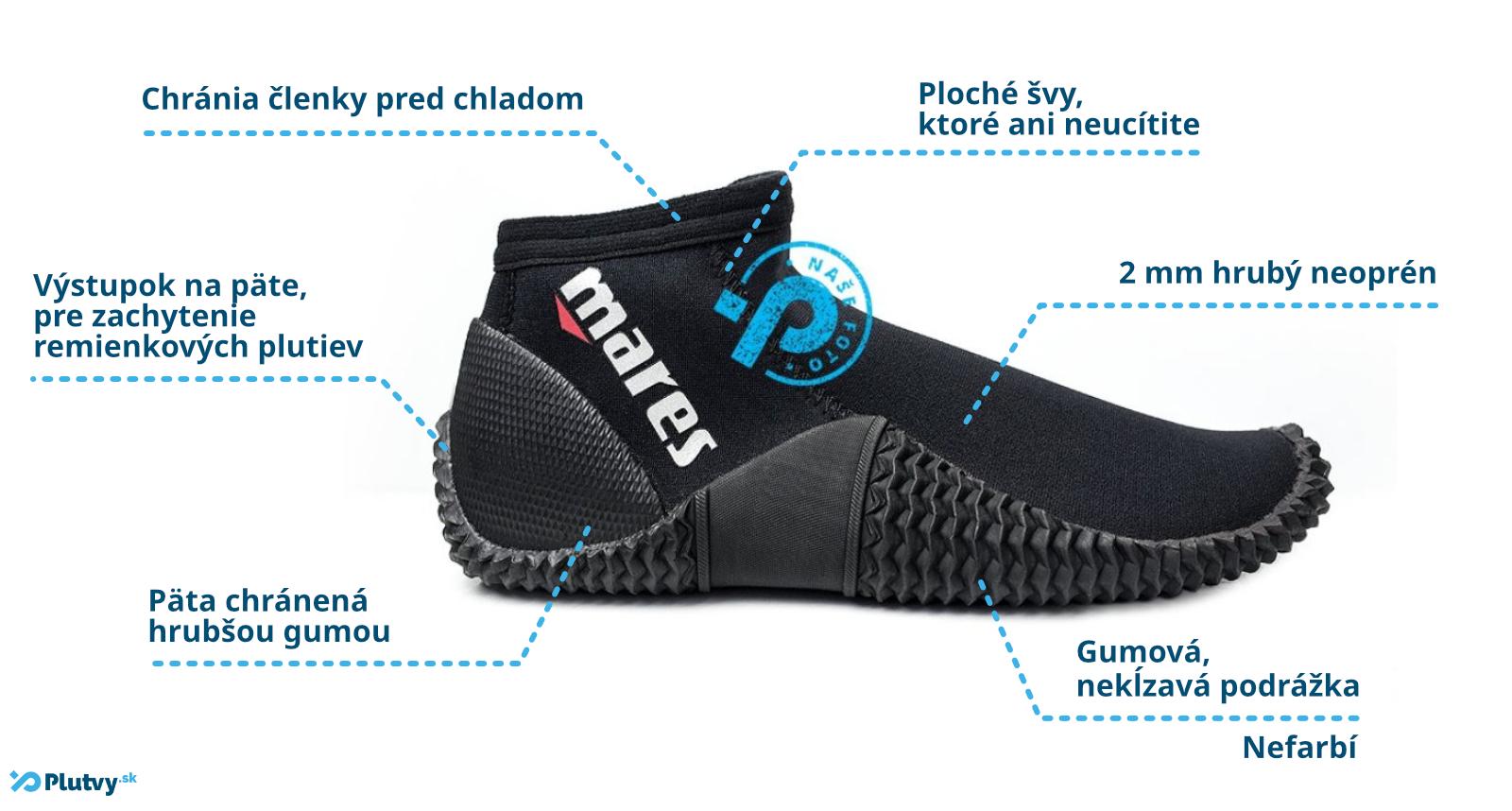 Ľahké neoprénové topánky na otužovanie, potápanie a šnorchlovanie od značky Mares Equator 2mm v Plutvy.sk v Bratislava