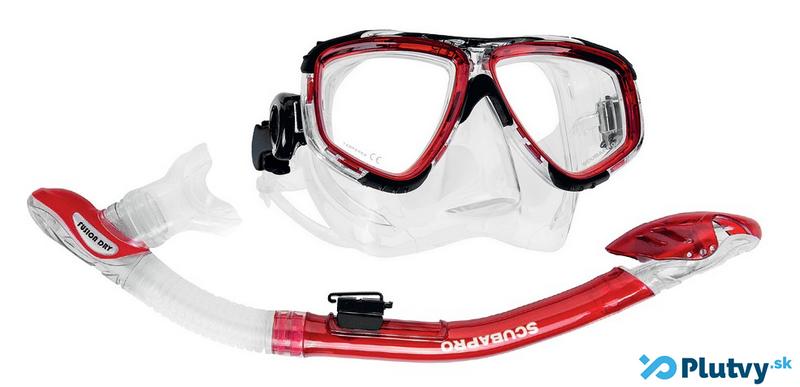 Zoom Dry červený, maska a šnorchel na potápanie a šnorchlovanie, Plutvy.sk