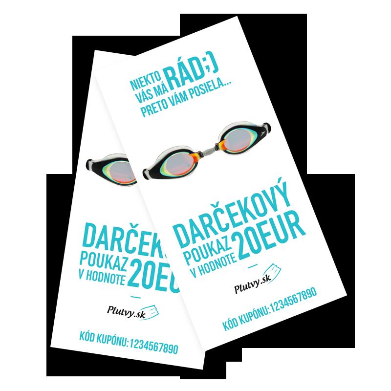 darčekový poukaz v hodnote 20€ Plutvy.sk